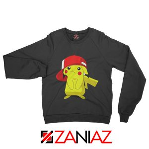 Ash's Pokemon Sweatshirt Pikachu Movies Best Sweatshirt Size S-2XL Black