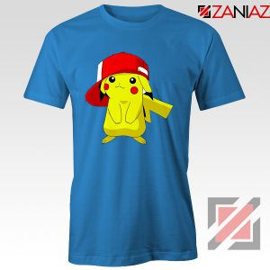 Ash's Pokemon T-shirt Pikachu Movies Best T-shirt Size S-3XL Blue