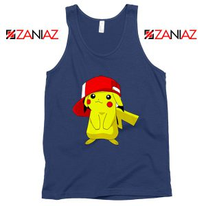 Ash's Pokemon Tank Top Pikachu Movies Best Tank Top Size S-3XL Navy