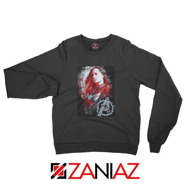 Avengers Endgame Sweatshirt Captain Marvel Sweatshirt Size S-2XL Black
