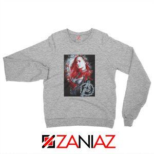 Avengers Endgame Sweatshirt Captain Marvel Sweatshirt Size S-2XL Sport Grey