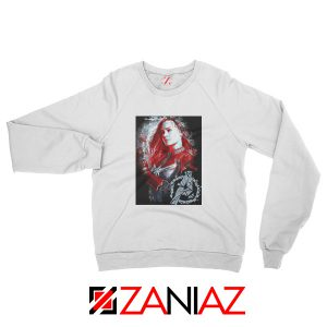 Avengers Endgame Sweatshirt Captain Marvel Sweatshirt Size S-2XL White