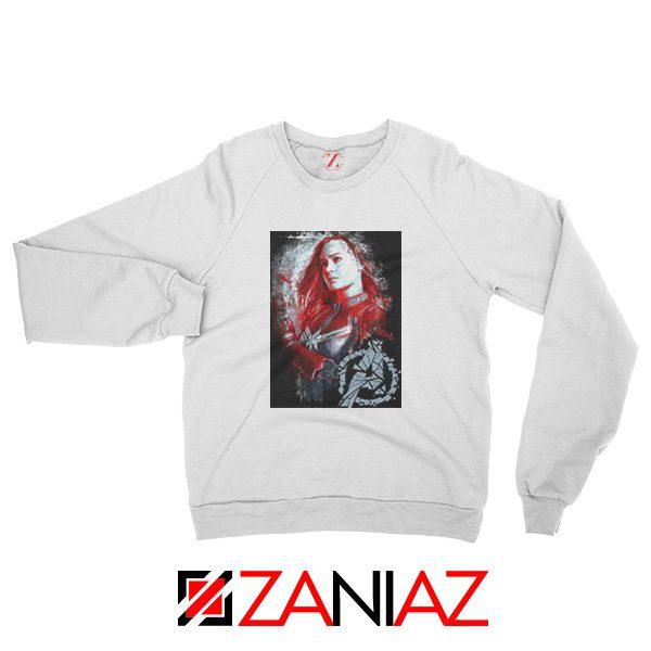 Avengers Endgame Sweatshirt Captain Marvel Sweatshirt Size S-2XL White