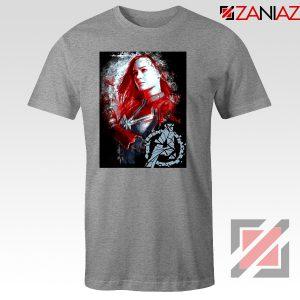 Avengers Endgame T-shirt Captain Marvel Best Tshirt Size S-3XL Grey