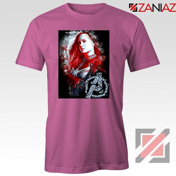 Avengers Endgame T-shirt Captain Marvel Best Tshirt Size S-3XL Pink