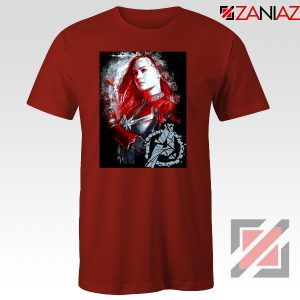Avengers Endgame T-shirt Captain Marvel Best Tshirt Size S-3XL Red