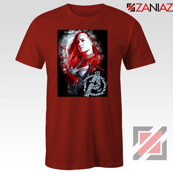 Avengers Endgame T-shirt Captain Marvel Best Tshirt Size S-3XL Red