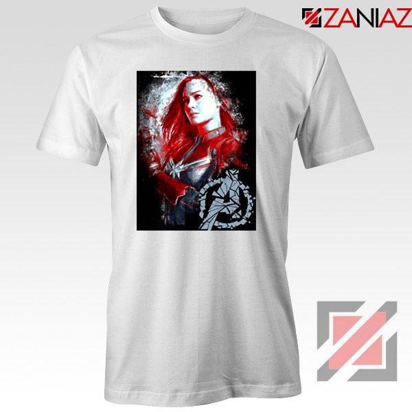 Avengers Endgame T-shirt Captain Marvel Best Tshirt Size S-3XL White