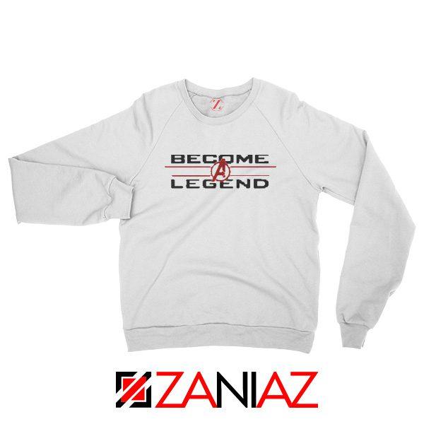 Become A Legend Sweatshirt Marvel Avengers Endgame Sweatshirt White