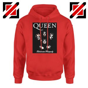 Bohemian Rhapsody Hoodie Queen Band Best Hoodie Size S-2XL Red