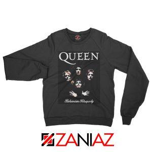 Bohemian Rhapsody Sweatshirt Queen Band Sweatshirt Size S-2XL Black