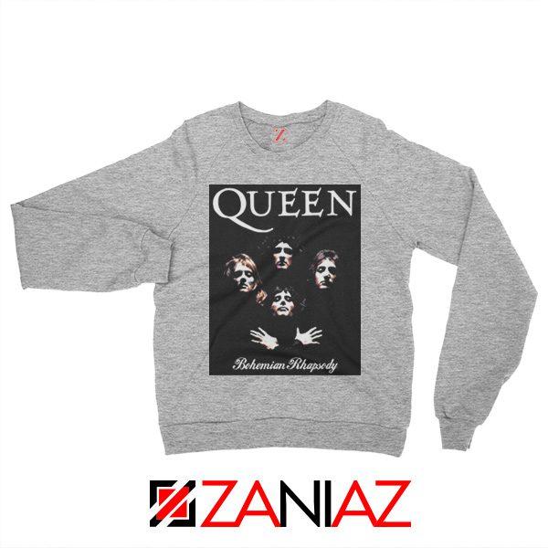Bohemian Rhapsody Sweatshirt Queen Band Sweatshirt Size S-2XL Sport Grey