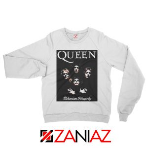 Bohemian Rhapsody Sweatshirt Queen Band Sweatshirt Size S-2XL White