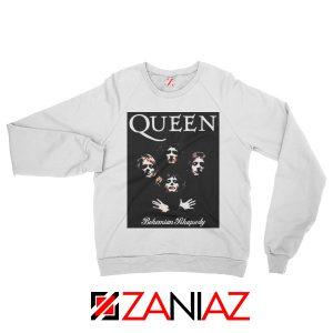 Bohemian Rhapsody Sweatshirt Queen Band Sweatshirt Size S-2XL White