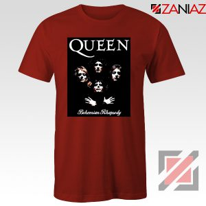 Bohemian Rhapsody T Shirt Queen Band Cheap T Shirt Size S-3XL Red