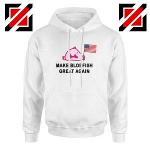 Buy Blobfish Hoodie Funny Animal Best Hoodie Size S-2XL White