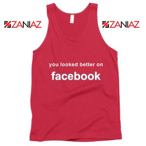 Buy Relaxed Tank Top Cheapest Funny Quote Tank Top Size S-3XL Red