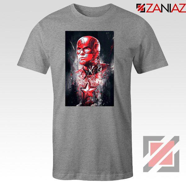 Captain America Marvel Avengers Assemble Cheap T-shirts Size S-3XL Sport Grey