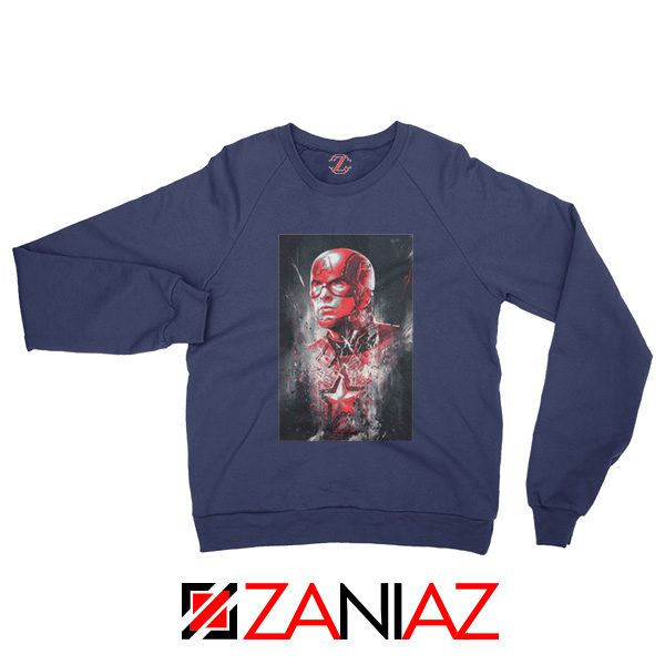 Captain America Marvel Avengers Assemble Sweatshirt Size S-2XL Navy