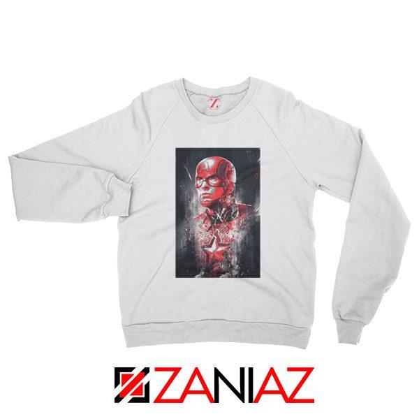 Captain America Marvel Avengers Assemble Sweatshirt Size S-2XL White