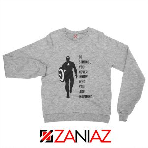Captain America Quote Sweatshirt Marvel Film Sweatshirt Size S-2XL Sport Grey