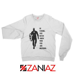 Captain America Quote Sweatshirt Marvel Film Sweatshirt Size S-2XL White