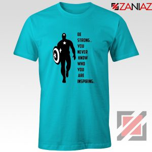 Captain America Quote T-Shirt Marvel Film Best T-Shirt Size S-3XL Light Blue