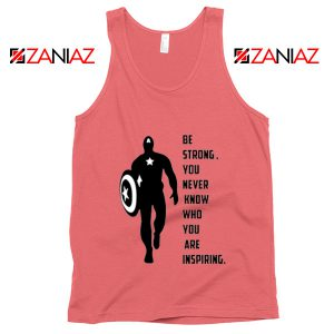 Captain America Quote Tank Top Marvel Film Tank Top Size S-3XL Coral