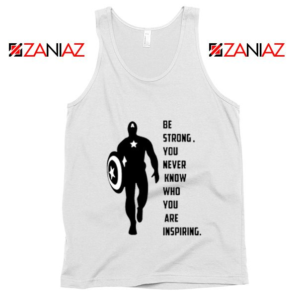 Captain America Quote Tank Top Marvel Film Tank Top Size S-3XL White