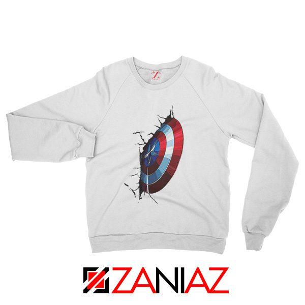 Captain America Shield Sweatshirt Marvel Studio Sweatshirt Size S-2XL White