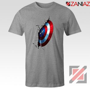 Captain America Shield T-Shirt Marvel Studio Best T-Shirt Size S-3XL Sport Grey