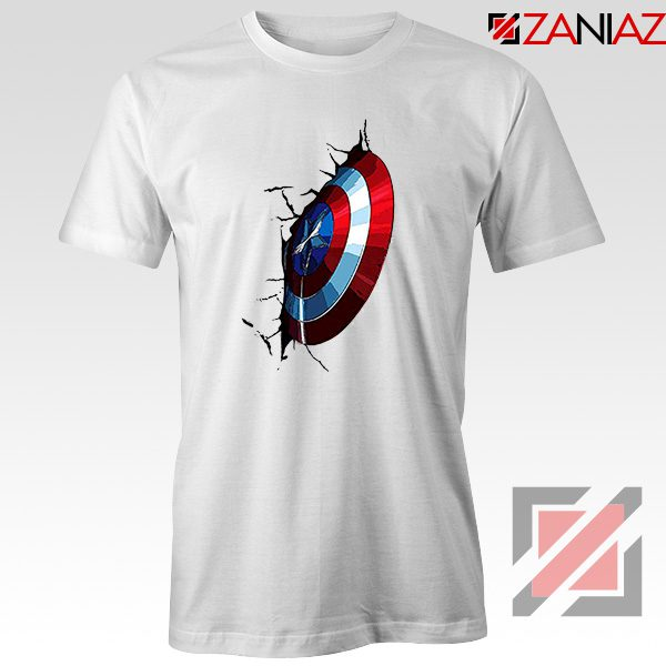 Captain America Shield T-Shirt Marvel Studio Best T-Shirt Size S-3XL White