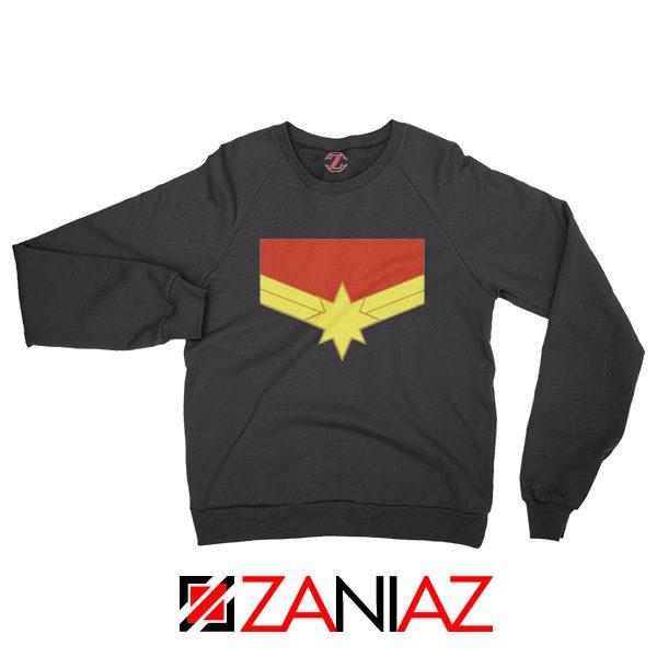 Captain Marvel Logo Sweatshirt Marvel Comics Sweatshirt Size S-2XL Black
