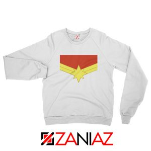 Captain Marvel Logo Sweatshirt Marvel Comics Sweatshirt Size S-2XL White