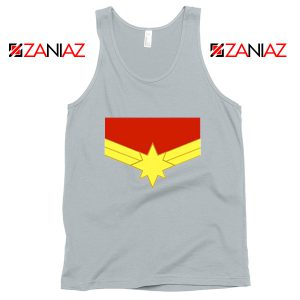 Captain Marvel Logo Tank Top Marvel Comics Tank Top Size S-3XL Grey