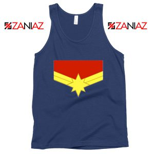 Captain Marvel Logo Tank Top Marvel Comics Tank Top Size S-3XL Navy