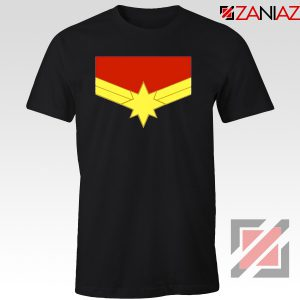 Captain Marvel Logo Tshirts Marvel Comics Tee Shirts Size S-3XL Black