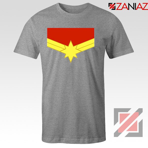 Captain Marvel Logo Tshirts Marvel Comics Tee Shirts Size S-3XL Grey