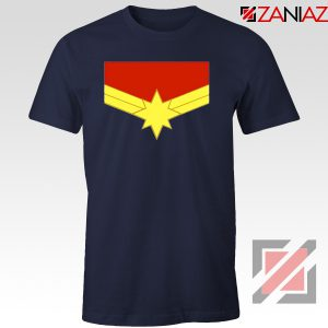 Captain Marvel Logo Tshirts Marvel Comics Tee Shirts Size S-3XL Navy