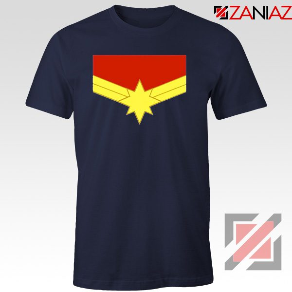 Captain Marvel Logo Tshirts Marvel Comics Tee Shirts Size S-3XL Navy