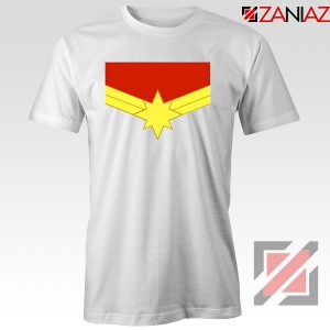 Captain Marvel Logo Tshirts Marvel Comics Tee Shirts Size S-3XL White