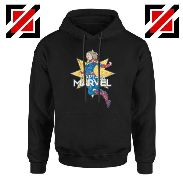 Captain Marvel Star Hoodie American Superhero Hoodie Size S-2XL Black