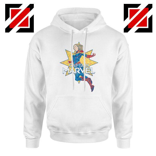 Captain Marvel Star Hoodie American Superhero Hoodie Size S-2XL White