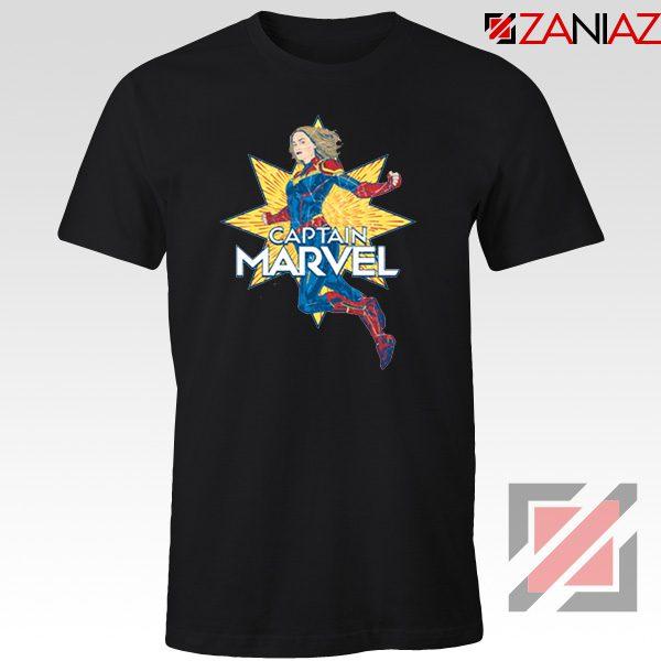 Captain Marvel Star T Shirt American Superhero Tee Shirt Size S-3XL Black
