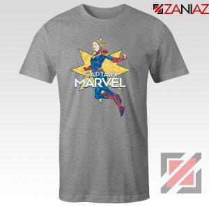 Captain Marvel Star T Shirt American Superhero Tee Shirt Size S-3XL Grey