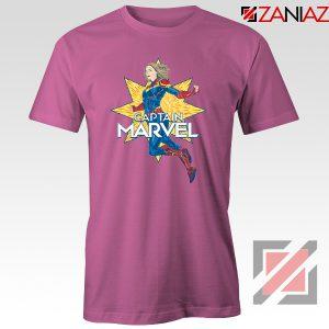 Captain Marvel Star T Shirt American Superhero Tee Shirt Size S-3XL Pink