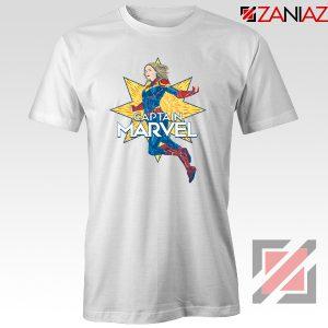 Captain Marvel Star T Shirt American Superhero Tee Shirt Size S-3XL White