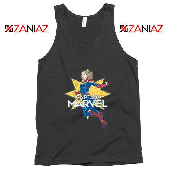 Captain Marvel Star Tank Top American Superhero Tank Top Black