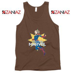 Captain Marvel Star Tank Top American Superhero Tank Top Brown