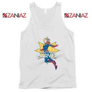Captain Marvel Star Tank Top American Superhero Tank Top White